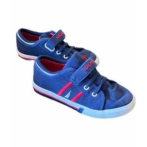 Toddler//Little Kid Nautica Toddler Edge View Canvas Sneakers Elastic and Adjustable Strap Casual Shoes